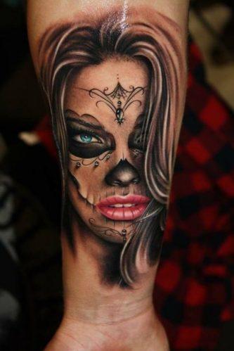 97 geniales tatuajes de catrinas significados catrina. Black Bedroom Furniture Sets. Home Design Ideas