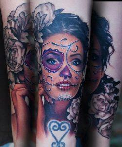 imagenes catrinas tattoo tatuajes 6 • 2020 » 97 Geniales Tatuajes de Catrinas (+Significados) Catrina Tattoo 41