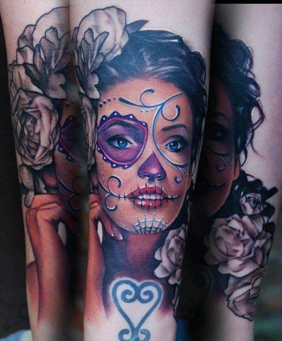 imagenes catrinas tattoo tatuajes 6 » 97 Geniales Tatuajes de Catrinas (+Significados) 41