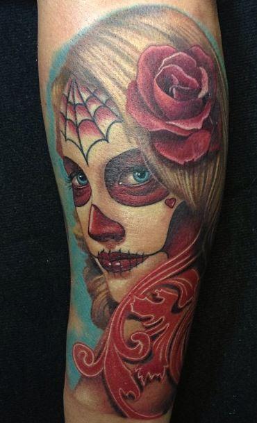 imagenes catrinas tattoo tatuajes 7 » 97 Geniales Tatuajes de Catrinas (+Significados) 42