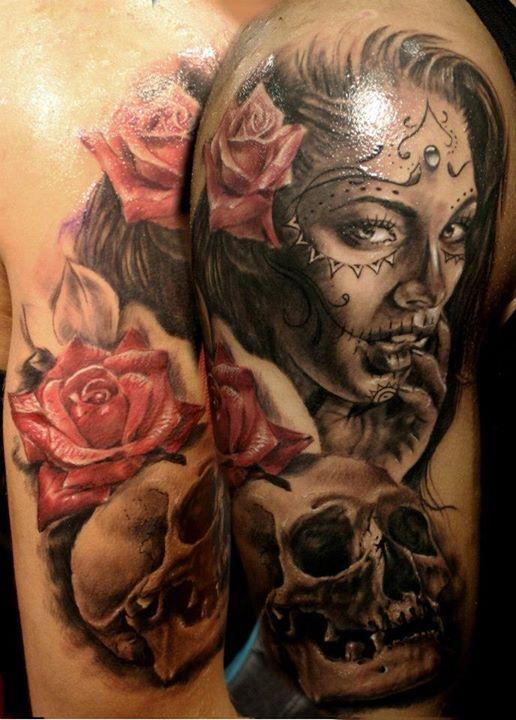 imagenes catrinas tattoo tatuajes 8 » 97 Geniales Tatuajes de Catrinas (+Significados) 43