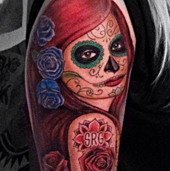tatuajescatrina 1 • 2020 » 97 Geniales Tatuajes de Catrinas (+Significados) Catrina Tattoo 27