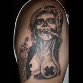 tatuajescatrina 13 • 2020 » 97 Geniales Tatuajes de Catrinas (+Significados) Catrina Tattoo 30