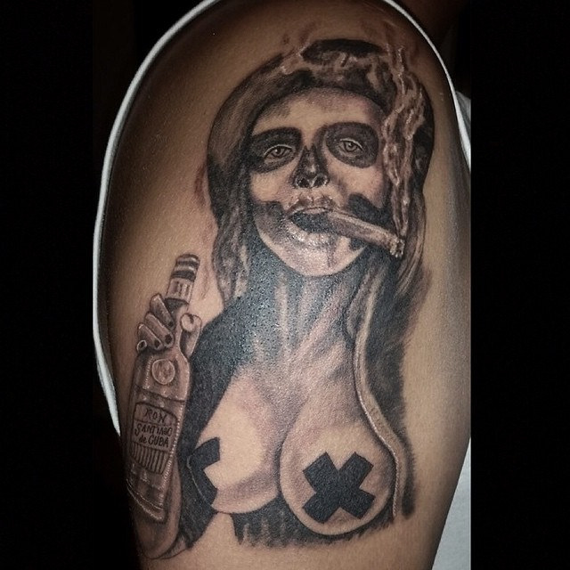 tatuajescatrina 13 » 97 Geniales Tatuajes de Catrinas (+Significados) 30