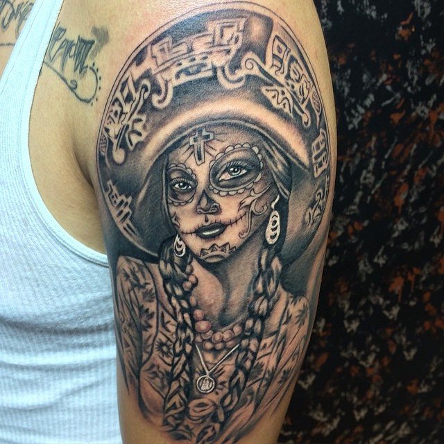 tatuajescatrina 14 » 97 Geniales Tatuajes de Catrinas (+Significados) 29