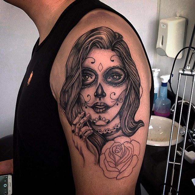 tatuajescatrina 15 » 97 Geniales Tatuajes de Catrinas (+Significados) 12