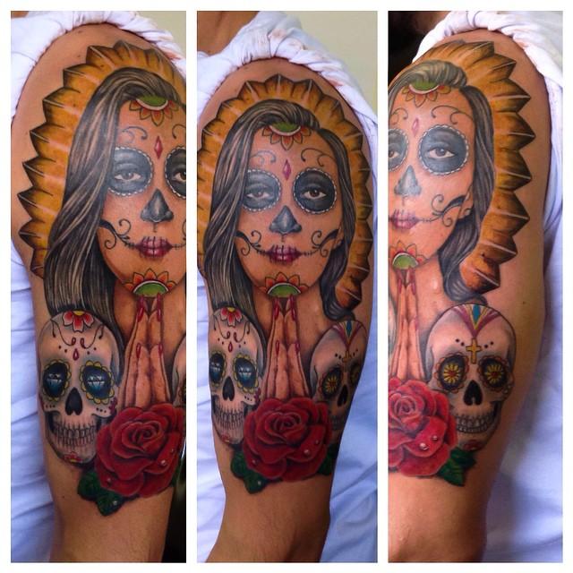 tatuajescatrina 18 » 97 Geniales Tatuajes de Catrinas (+Significados) 10