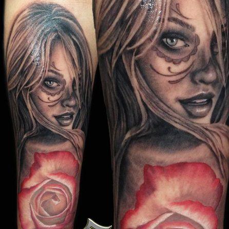 tatuajescatrina 19 • 2020 » 97 Geniales Tatuajes de Catrinas (+Significados) Catrina Tattoo 9