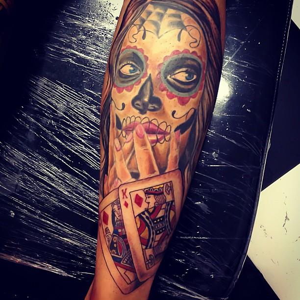 tatuajescatrina 2 » 97 Geniales Tatuajes de Catrinas (+Significados) 26