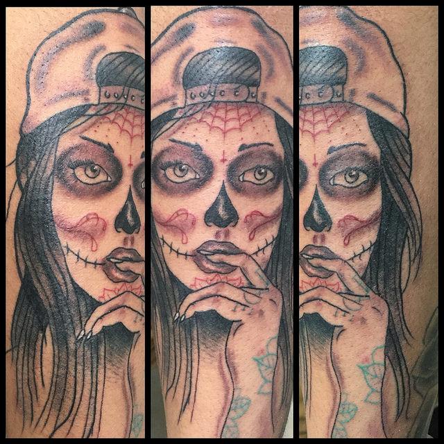 tatuajescatrina 21 » 97 Geniales Tatuajes de Catrinas (+Significados) 8
