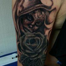 tatuajescatrina 22 • 2020 » 97 Geniales Tatuajes de Catrinas (+Significados) Catrina Tattoo 7