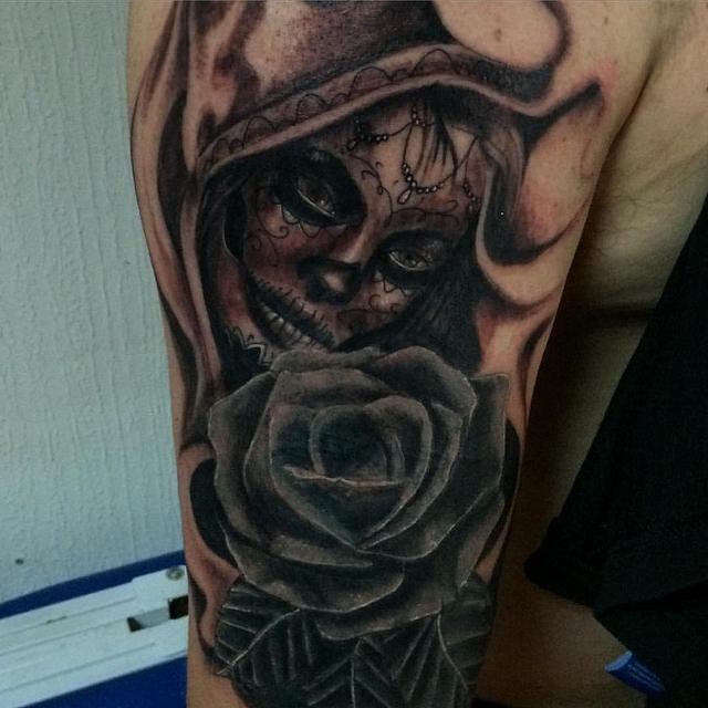 tatuajescatrina 22 » 97 Geniales Tatuajes de Catrinas (+Significados) 7