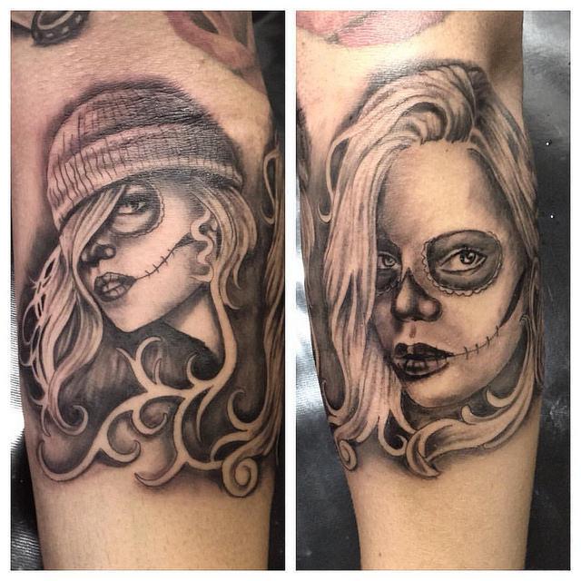 tatuajescatrina 23 » 97 Geniales Tatuajes de Catrinas (+Significados) 6