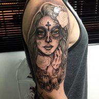 tatuajescatrina 24 • 2020 » 97 Geniales Tatuajes de Catrinas (+Significados) Catrina Tattoo 5