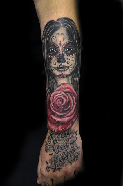 tatuajescatrina 25 » 97 Geniales Tatuajes de Catrinas (+Significados) 4