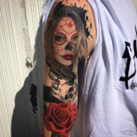 tatuajescatrina 26 • 2020 » 97 Geniales Tatuajes de Catrinas (+Significados) Catrina Tattoo 3
