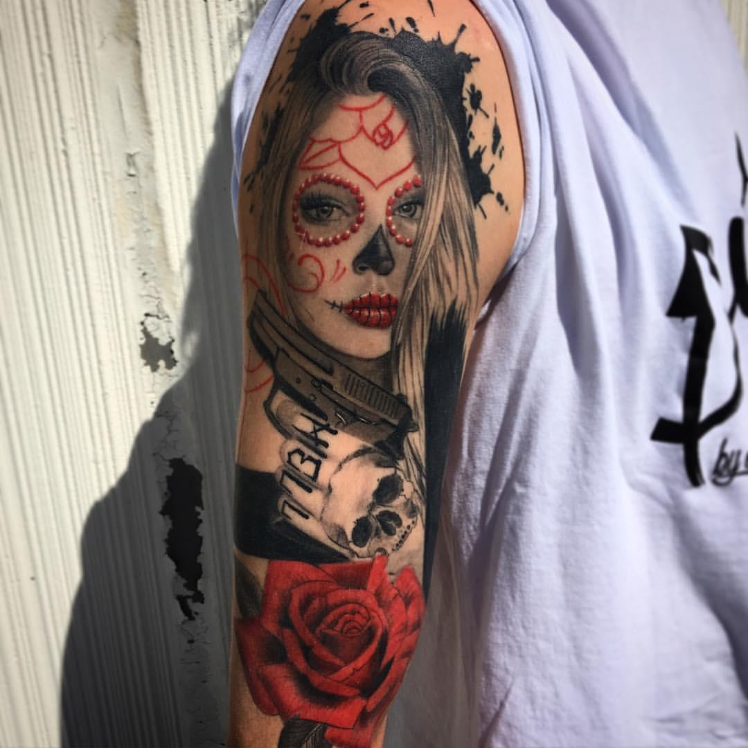 tatuajescatrina 26 » 97 Geniales Tatuajes de Catrinas (+Significados) 3