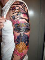 tatuajescatrina 27 • 2020 » 97 Geniales Tatuajes de Catrinas (+Significados) Catrina Tattoo 2