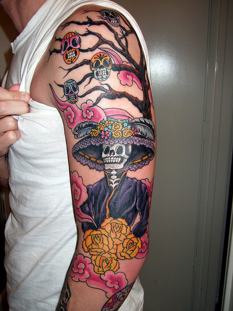 tatuajescatrina 27 » 97 Geniales Tatuajes de Catrinas (+Significados) 2