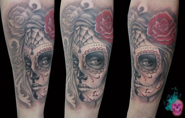 tatuajescatrina 28 • 2020 » 97 Geniales Tatuajes de Catrinas (+Significados) Catrina Tattoo 22