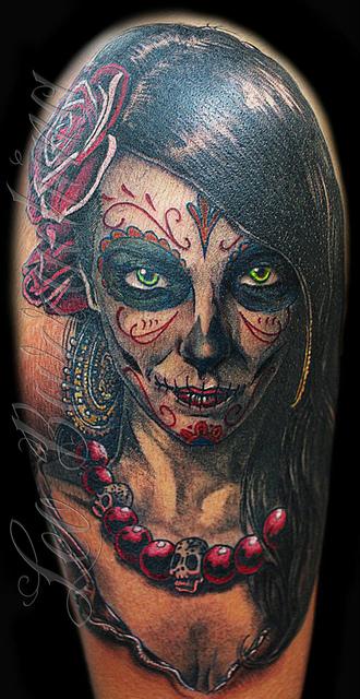 tatuajescatrina 29 » 97 Geniales Tatuajes de Catrinas (+Significados) 21