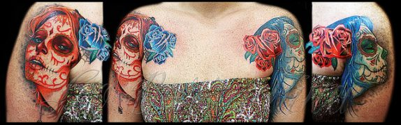 tatuajescatrina 30 • 2020 » 97 Geniales Tatuajes de Catrinas (+Significados) Catrina Tattoo 20