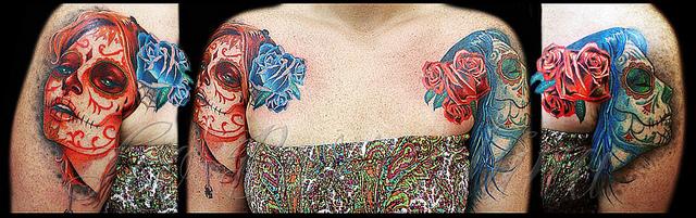 tatuajescatrina 30 » 97 Geniales Tatuajes de Catrinas (+Significados) 20