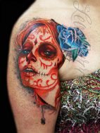 tatuajescatrina 31 • 2020 » 97 Geniales Tatuajes de Catrinas (+Significados) Catrina Tattoo 19