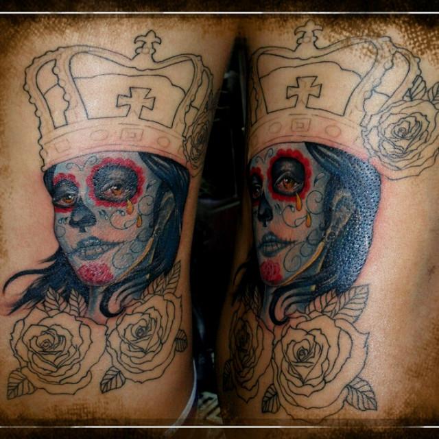 tatuajescatrina 32 » 97 Geniales Tatuajes de Catrinas (+Significados) 18