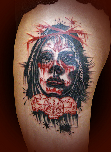 tatuajescatrina 33 » 97 Geniales Tatuajes de Catrinas (+Significados) 17