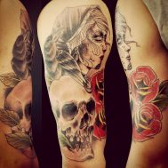 tatuajescatrina 34 • 2020 » 97 Geniales Tatuajes de Catrinas (+Significados) Catrina Tattoo 16