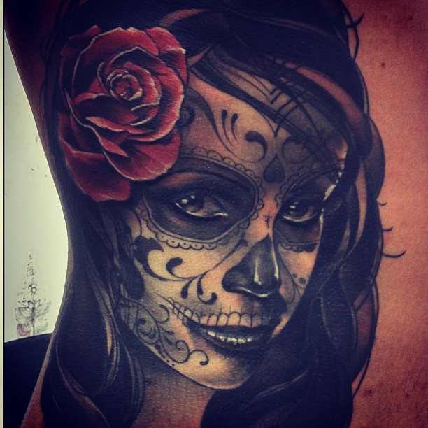 tatuajescatrina 4 » 97 Geniales Tatuajes de Catrinas (+Significados) 24