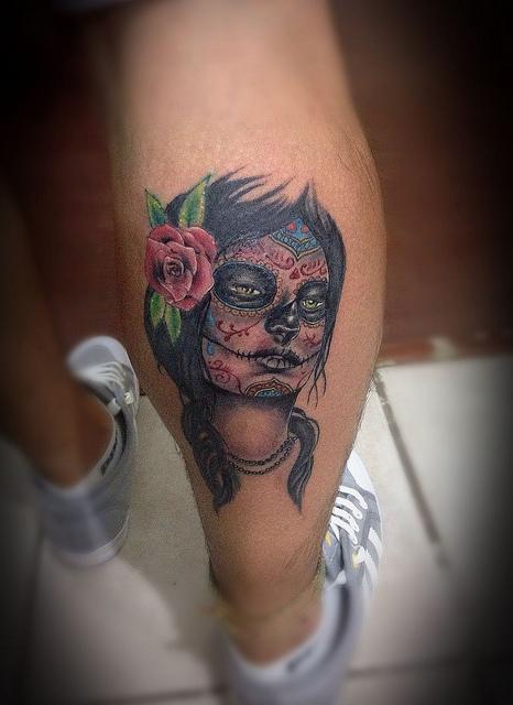tatuajescatrina 7 » 97 Geniales Tatuajes de Catrinas (+Significados) 28