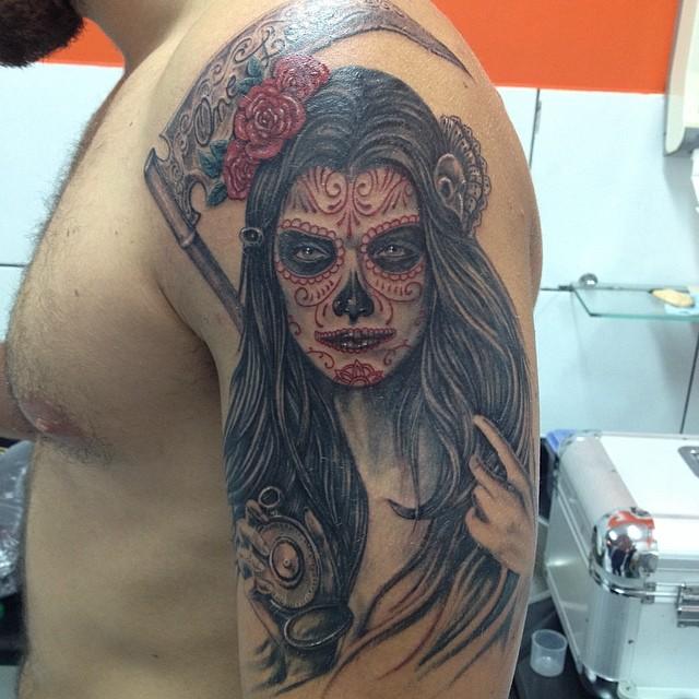 tatuajescatrina 9 » 97 Geniales Tatuajes de Catrinas (+Significados) 34