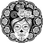 catrinas diseños bocetos tatuajes 10 » 50 Diseños de Catrinas y Bocetos de Tatuajes de Calaveras Mexicanas 19