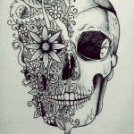catrinas diseños bocetos tatuajes 12 » 50 Diseños de Catrinas y Bocetos de Tatuajes de Calaveras Mexicanas 4