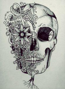 catrinas diseños bocetos tatuajes 12 » catrinas-diseños-bocetos-tatuajes (12) 3