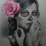 catrinas diseños bocetos tatuajes 13 » 50 Diseños de Catrinas y Bocetos de Tatuajes de Calaveras Mexicanas 21