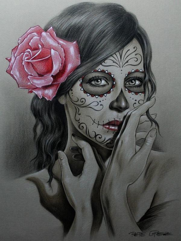 Catrinas dise os bocetos tatuajes 13 catrinas10 for Los mejores tatuadores