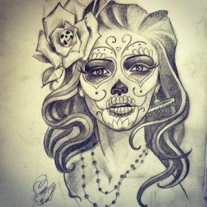 catrinas diseños bocetos tatuajes 19 » catrinas-diseños-bocetos-tatuajes (19) 3
