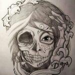 catrinas diseños bocetos tatuajes 20 » 50 Diseños de Catrinas y Bocetos de Tatuajes de Calaveras Mexicanas 26