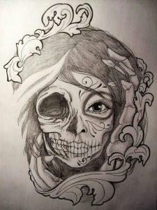 catrinas diseños bocetos tatuajes 20 » catrinas-diseños-bocetos-tatuajes (20) 3
