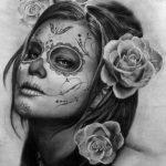 catrinas diseños bocetos tatuajes 21 » 50 Diseños de Catrinas y Bocetos de Tatuajes de Calaveras Mexicanas 27