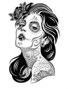 catrinas diseños bocetos tatuajes 23 » catrinas-diseños-bocetos-tatuajes (23) 3