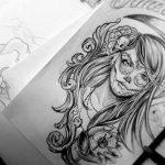 catrinas diseños bocetos tatuajes 24 » 50 Diseños de Catrinas y Bocetos de Tatuajes de Calaveras Mexicanas 30
