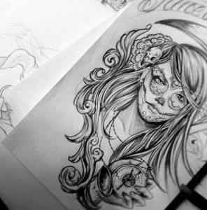 catrinas diseños bocetos tatuajes 24 » catrinas-diseños-bocetos-tatuajes (24) 3