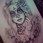 catrinas diseños bocetos tatuajes 25 » 50 Diseños de Catrinas y Bocetos de Tatuajes de Calaveras Mexicanas 31