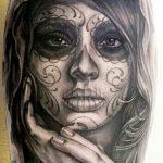 catrinas diseños bocetos tatuajes 26 » 50 Diseños de Catrinas y Bocetos de Tatuajes de Calaveras Mexicanas 32