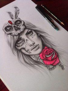 catrinas diseños bocetos tatuajes 27 » catrinas-diseños-bocetos-tatuajes (27) 3