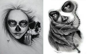 catrinas diseños bocetos tatuajes 28 » catrinas-diseños-bocetos-tatuajes (28) 3